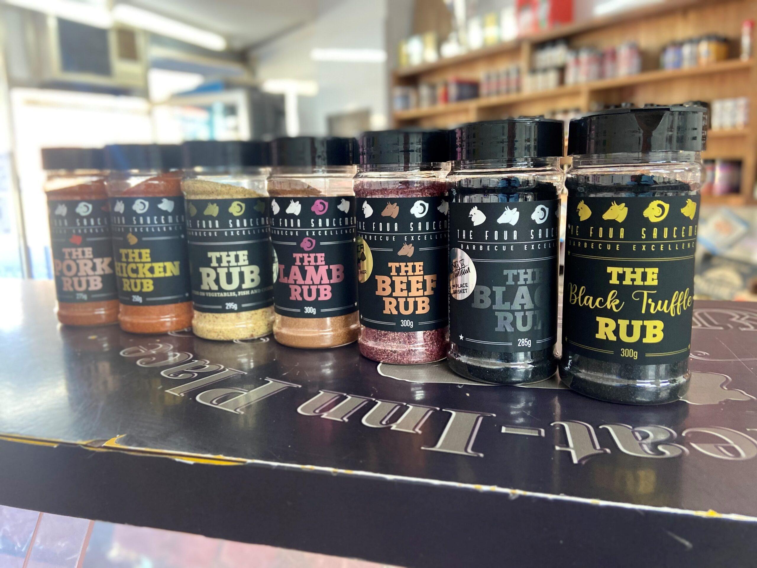 The four saucemen rubs